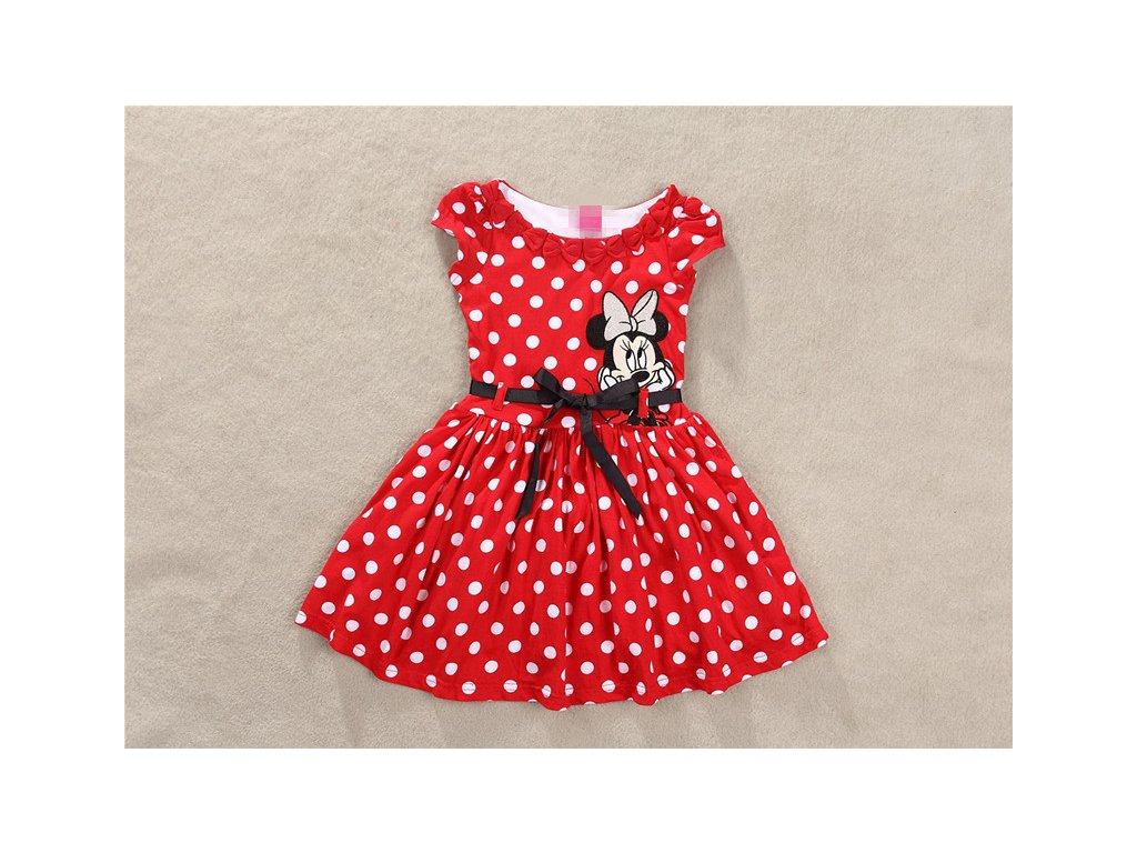 e3bea2315aab Dětské puntíkované šaty s Minnie - SLEVA 35% (Velikost 90)