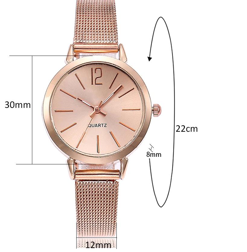 Dámske hodinky Quartz s kovovým pásikom z chirurgickej ocele ... 78b48b42a21
